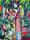 August Macke. Spazier­gang in Blumen, 1912.