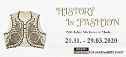 History in Fashion. 1500 Stickerei in Mode - Grassi Museum 2019